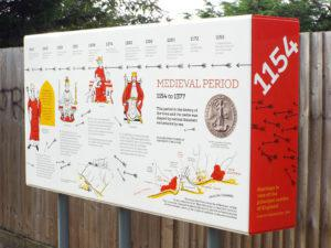 Hastings Castle 1154 AD Infographic