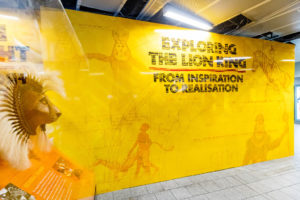 The Lion King wall vinyls at King's Cross Station