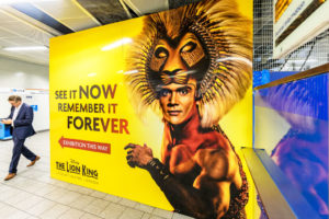 The Lion King Hoarding Graphics at King's Cross Station