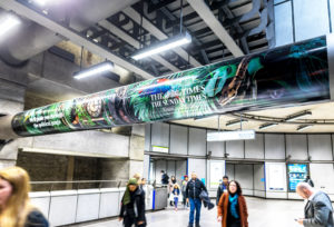 Westminster Jungle large format vinyl column wrap