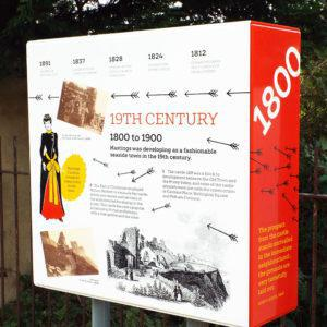 Hastings Castle infographic 1800 AD