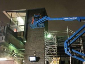 Limehouse DLR Station Roundel Installation