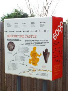 Hastings Castle infographic 6000 BC