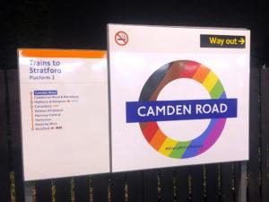 Pride 2019 Camden Road roundel