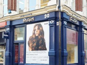 RUSH Hair Farringdon shop front