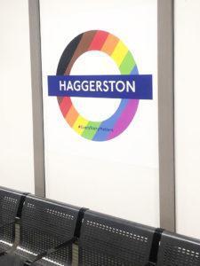 Pride 2019 Haggerston station roundel