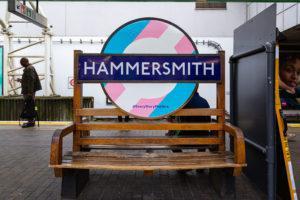 Pride 2019 Hammersmith station roundel