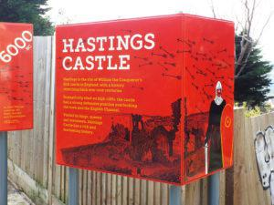 Hastings Castle Infographic intro panel