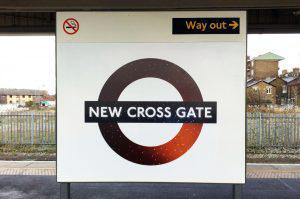 New Cross Gate Night Overground Roundel