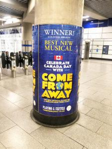 Come from Away column wraps