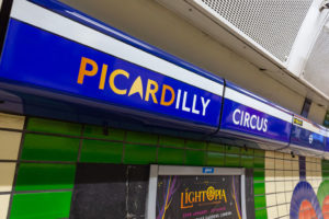 Picardilly Circus Platform Frieze Vinyl