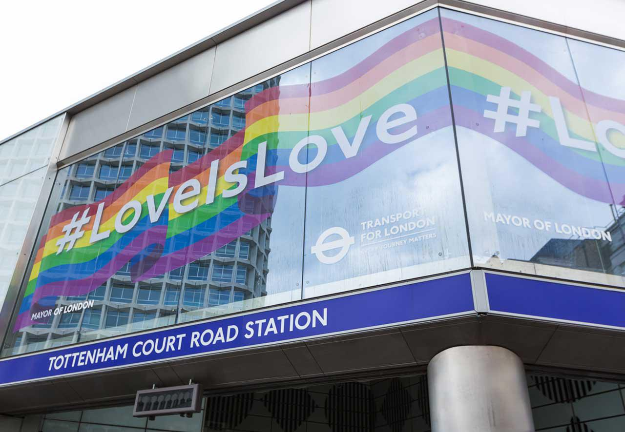 Pride in London Tube Signage - Love Is Love