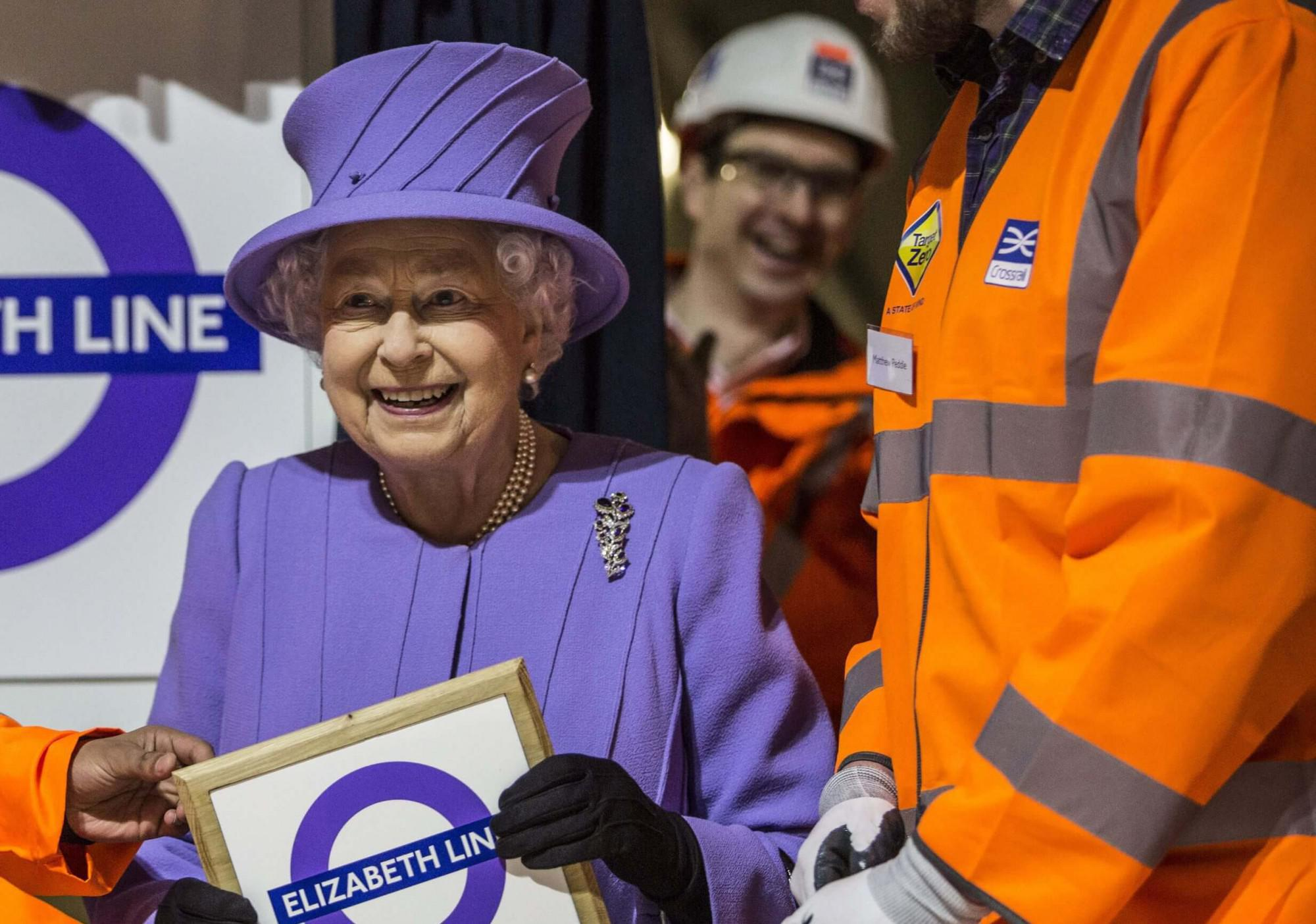 Elizabeth Line unveiled by Her Majesty the Queen