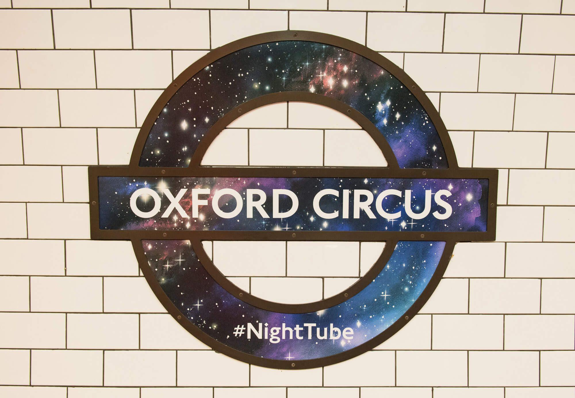 Oxford Circus - Night Tube Roundel #NightTube