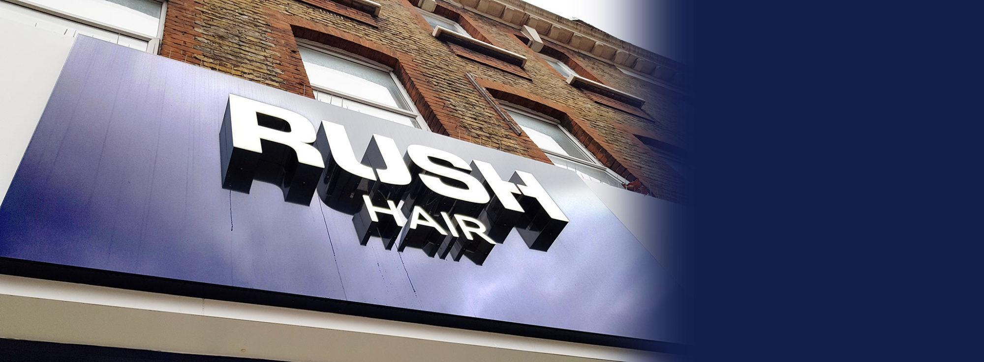 RUSH Hair Camden Sign