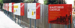 Hastings Castle Infographics panel series