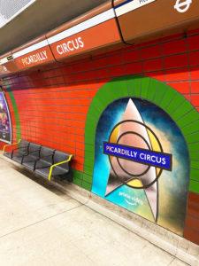 Picardilly platform frieze graphics