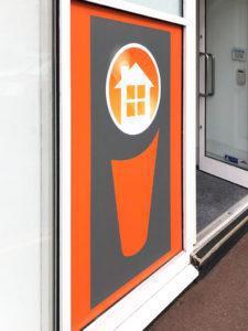 logo window vinyl
